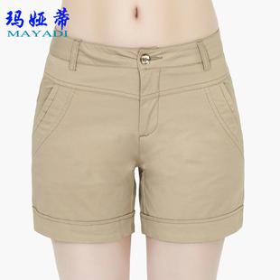 西装 玛娅蒂女裤 大码 女款 显瘦四分裤 2019新夏季 纯棉休闲裤 女夏 短裤