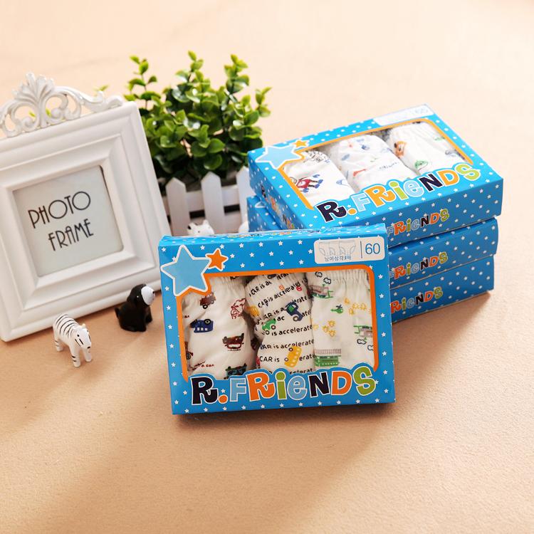 3 Подарочные коробки мальчиков белье хлопок треугольник шорты и тонкий хлопок детский хлеб в летние брюки младенцев, маленьких детей