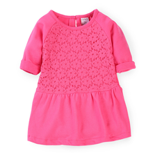 In the autumn of 2015 foreign trade exports Europe and the United States the original single mei red bud silk Half sleeve in the spring and autumn girl children dress