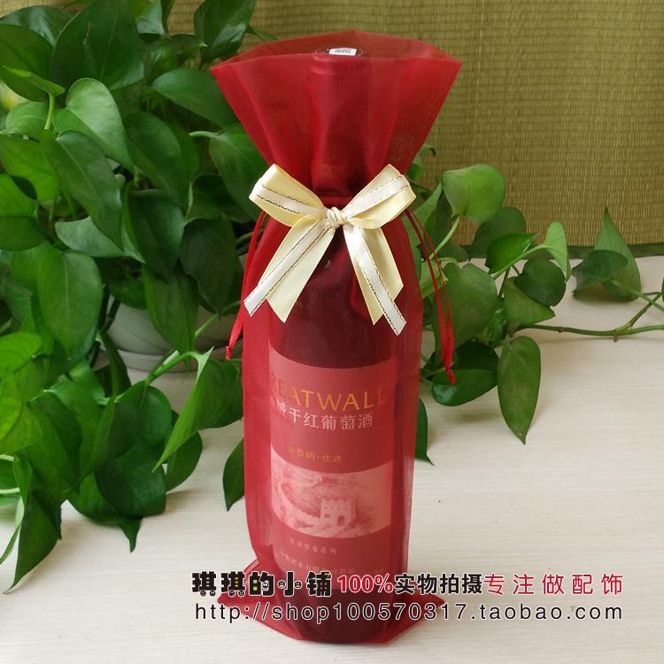 Корейский бант шифрование пряжа высокого класса красный ликер красная сумка ликер наборы подарков упаковки мешок подарок мешок прозрачный мешок из органзы