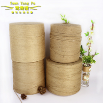 Mandarin Duck spectrum retro Yellow hemp Thread Hemp Rope large Roll Hemp thread whole Roll Hemp rope tag Handicraft decoration