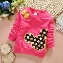Children into thin ladies baby jacket long sleeve T-shirt in the autumn of 1-2-3 two and a half years old baby shirt cotton render unlined upper garment