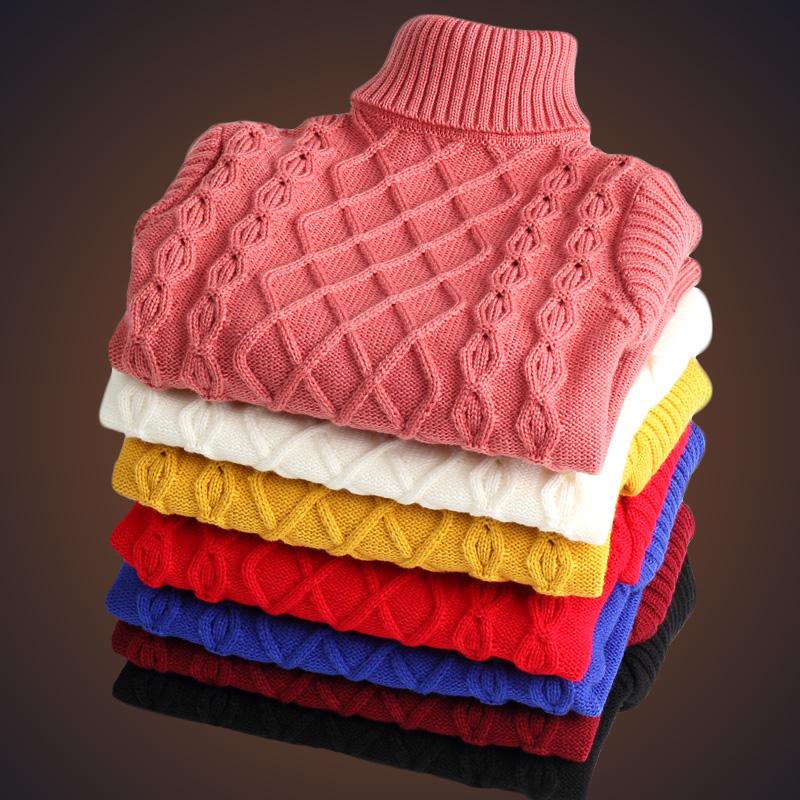 兒童高領套頭中大童毛衣