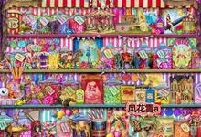 272源文件HAE超清晰彩色十字绣重绘图纸甜品书架400