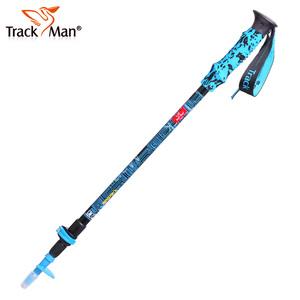 Trackman登山杖户外拐杖手杖 折叠伸缩爬山装备 三节直柄行山杖
