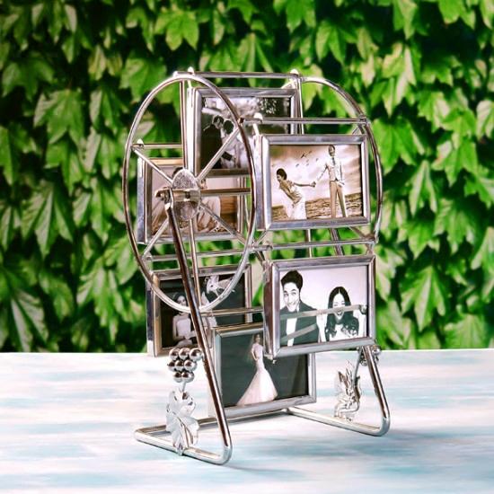 5寸6寸金属旋转风车摩天轮相框影楼用摩天轮相架摆台创意生日礼物