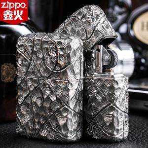 芝宝打火机zippo正版 古砂纯爷们超重加厚银盔甲 美国原装正品zp