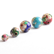 Drip fittings once colored cloisonne round beads beads with Pearl loose beads distribution beads coil bracelet