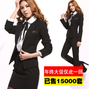 Spring new women suit pants suit wear long sleeved dress OL Slim suits overalls interview yards