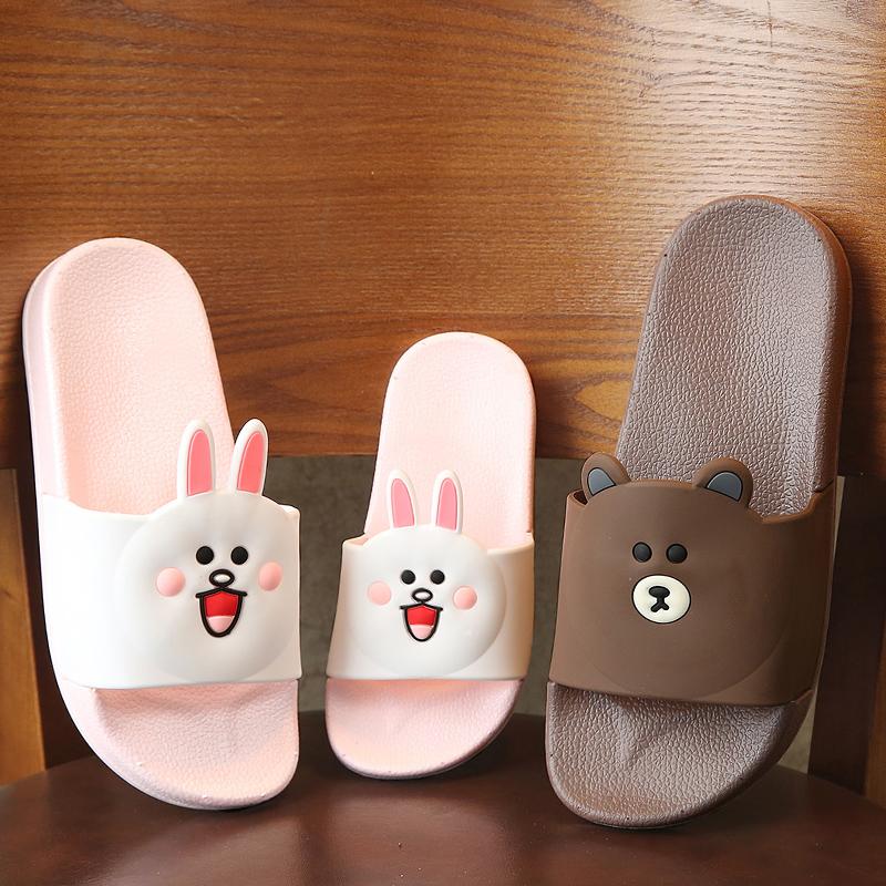 卡通室內防滑親子兒童拖鞋女小孩寶寶男童女童浴室家居涼拖鞋