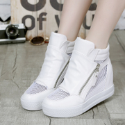 Singular love of spring and summer 2015 new style women's shoes women's shoes with high heels increased stealth breathable mesh shoes wave