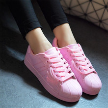 The new 2015 three stripes shells shoes sneakers female sport casual shoes color shell head wings student flats