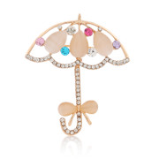 Straight umbrellas elegance Butterfly Korea Edition rhinestone corsage brooch pin fashion jewelry Korea women
