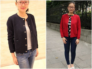 2016 spring models Korean version of the diamond Y'UN Yun extra sets of female casual cardigan sweater large yards Women's Clothing was thin baseball uniform