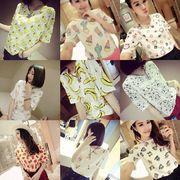 閨蜜裝韓版女裝新款夏裝大碼修身寬松潮小衫可愛卡通動物短袖T恤
