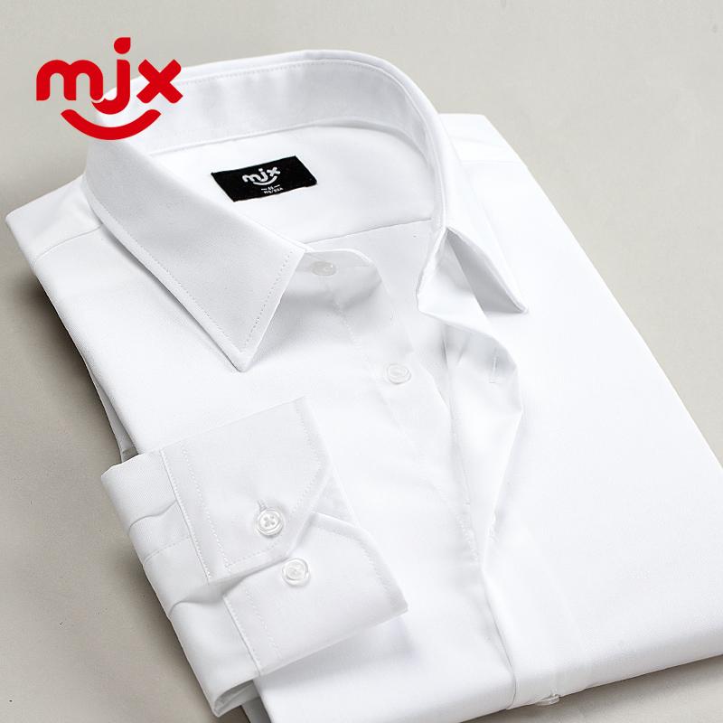 純棉純色商務青年男士襯衫