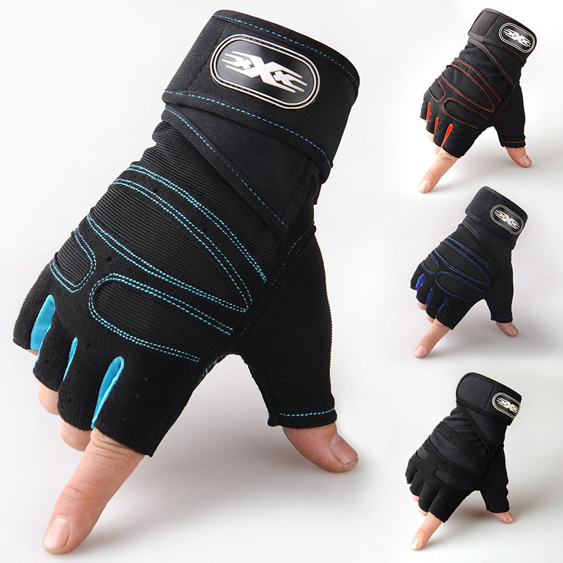 Half finger sports fitness gloves men and women riding outdoor anti slip tactical training thin breathable Summer Long Wrist Gloves