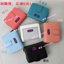 C home ladies wallet F52692 short leather zipper ladies wallet F52846 horse logo buckles female wallet