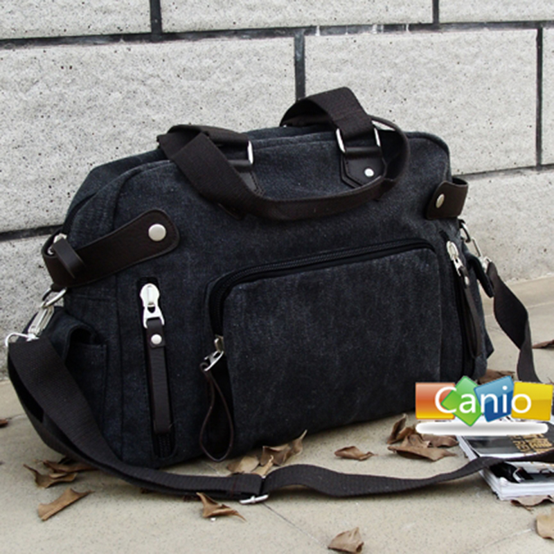 New Canvas Shoulder Bag Japanese and Korean fashion casual mens bag retro messenger bag portable travel bag