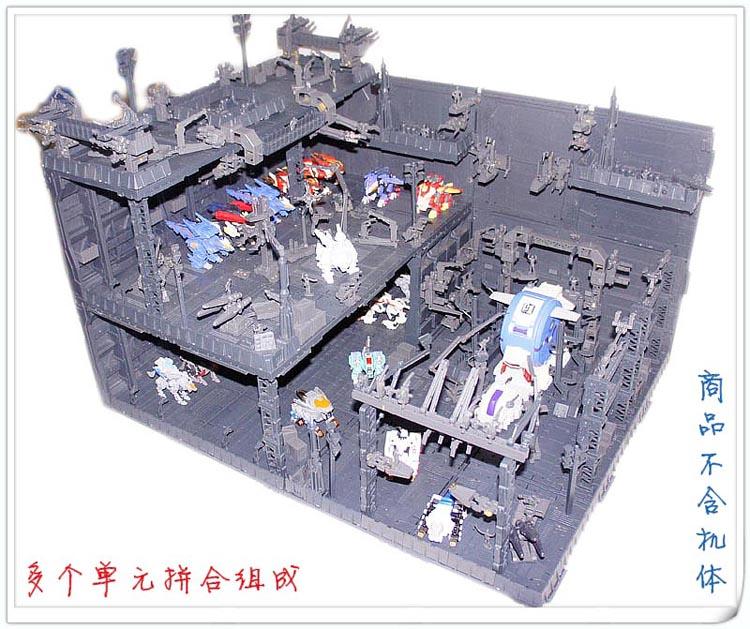 CG 机巢 前线基地 格纳库 场景 整备架 zoids 高达 变形金刚适用10-30新券