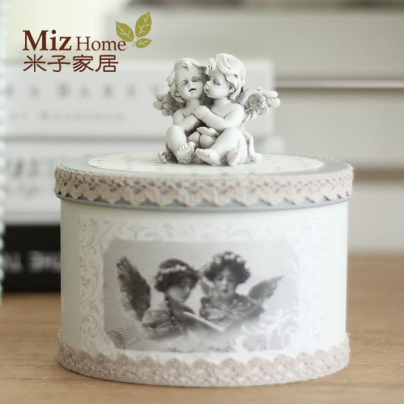 Yonago дома континентальный античный Старый олова покрыты хранения коробки домашние украшения Ангелы ящик для хранения