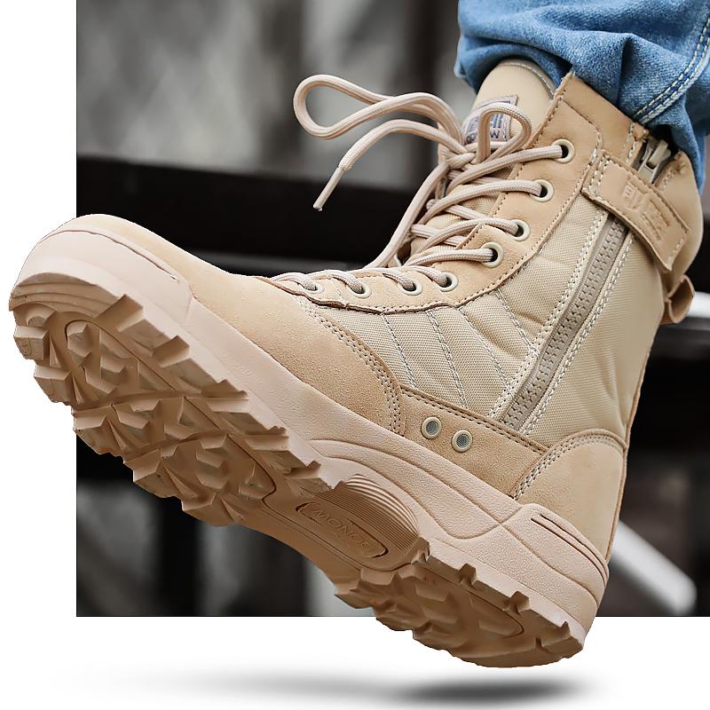 盾郎戶外軍靴軍鞋作戰靴戰術靴登山靴陸戰靴沙漠靴男特種兵 超輕