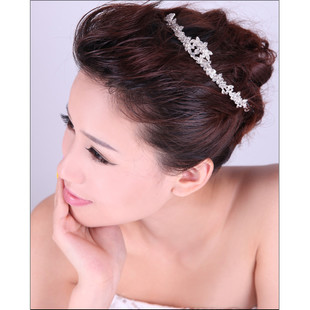 Bridal Jewelry Crown Korean hair jewelry wholesale frontlet hair bands wedding dress accessories marriage accessories T20