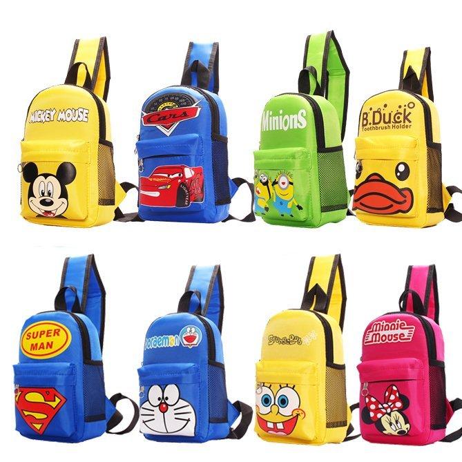 Ребенок мешки грудь одноместный плечо сумка путешествие случайный пакет мальчиков девочки милый принцесса немного назад мешки