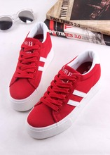 Humanism fall 2015 new low help female canvas shoes Han edition increased within two stripes student movement leisure shoes