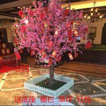 Simulation Peach blossom tree Simulation cherry tree wish Tree plum Tree Lobby Hotel shopping mall decoration