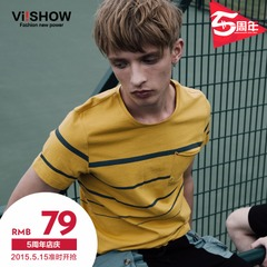 Viishow2015 summer dress new short sleeve t-shirt men short sleeve t shirt man's half-sleeve round neck cotton inside take