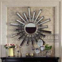 1 метр 1 круглый солнце вход декоративный зеркало стена украшения настенный зеркало магазин зеркало новый классическая гостиная фон стена висячее зеркало
