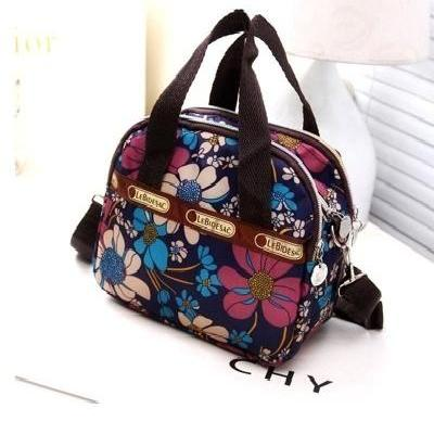 Korean leisure double zipper small bag handbag mother bag women bag small handbag canvas work bag