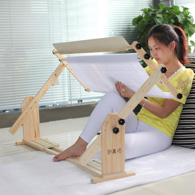 Многофункциональный с тремя расширение твердый большой размер вышивка крестом вышивать полка регулируемый стол стиль вертикальный рабочий стол размер общий