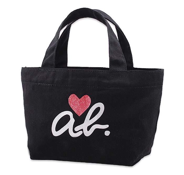 31.17.31,2 япония журнал модель женщины - черный любовь холст портативный легко пакет легко мешок коробка для завтрака