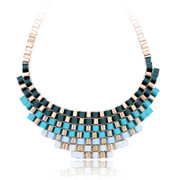 Best female short Korean fashion jewelry necklace accessory multi-layer fabric collar bone