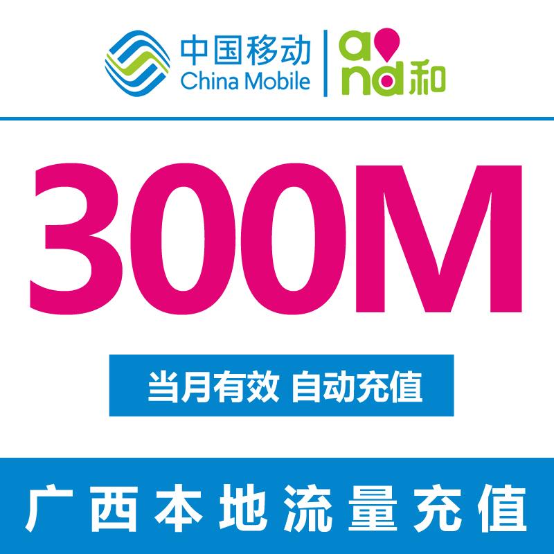 廣西移動流量充值 300M 上網流量 2G3G4G 手機流量疊加包