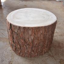 松木墩子木桩原木木桩实木墩子根雕凳子大板底座小木墩树墩花架