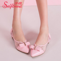 Interest in question fall 2015 sweet bow designer shoes a breathable mesh flat pointy shoes T51136