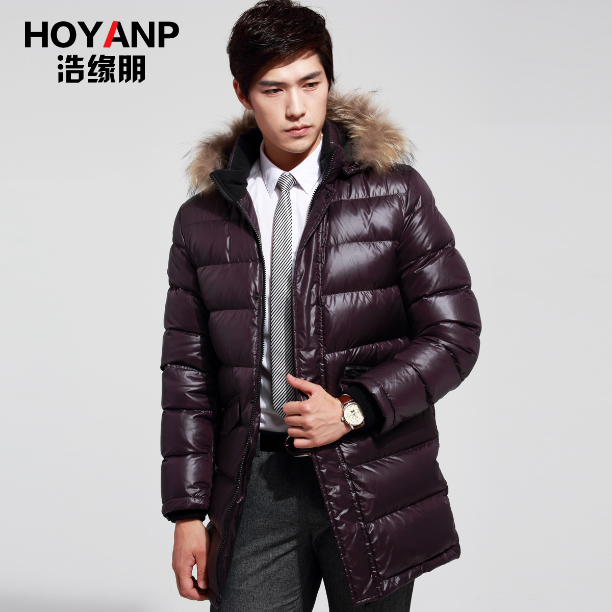 Хао маржа четырех точек к 2015 году новых мужчин давно вниз куртка зимняя досуга для молодежи подлинные Специальные утолщенные меховым воротником