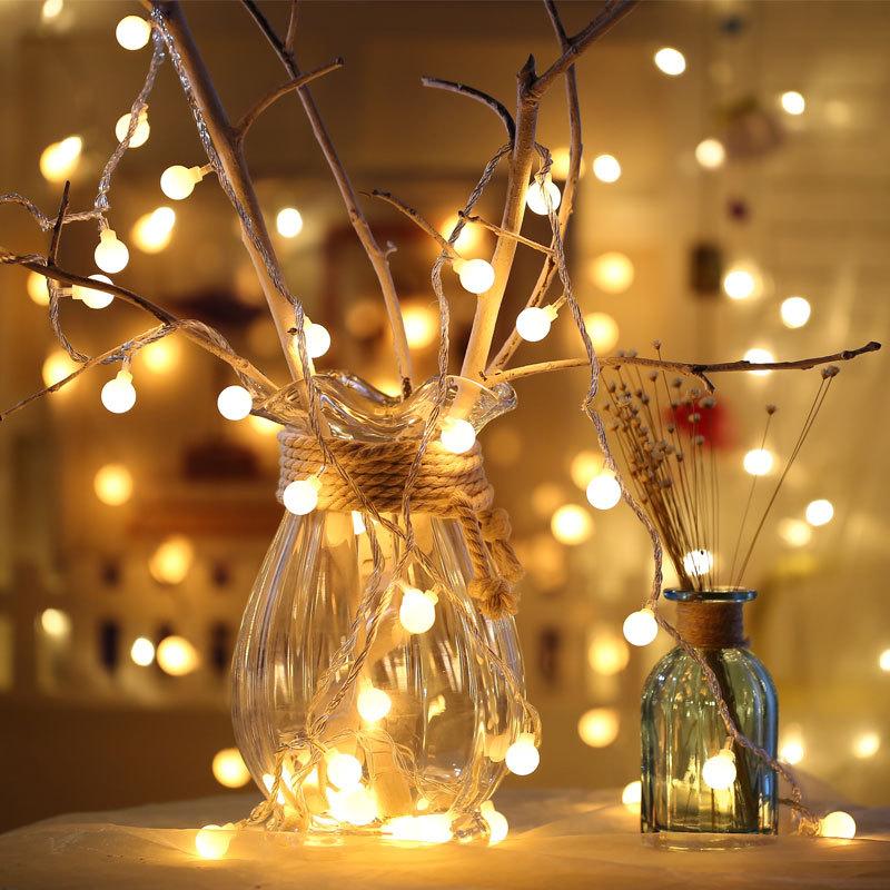 LED小彩燈串燈房間卧室宿舍節日ins裝飾閃燈滿天星星燈USB小燈泡