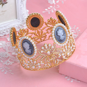 Good static Baroque marriage in Europe and America in the bride beauty queen Crown Crown Studio jewelry wedding accessories