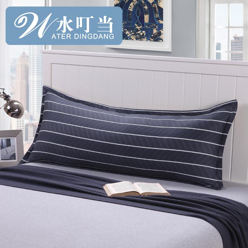 水叮當情侶雙人枕頭套1.2米純棉雙人枕套1.5米全棉加長枕套