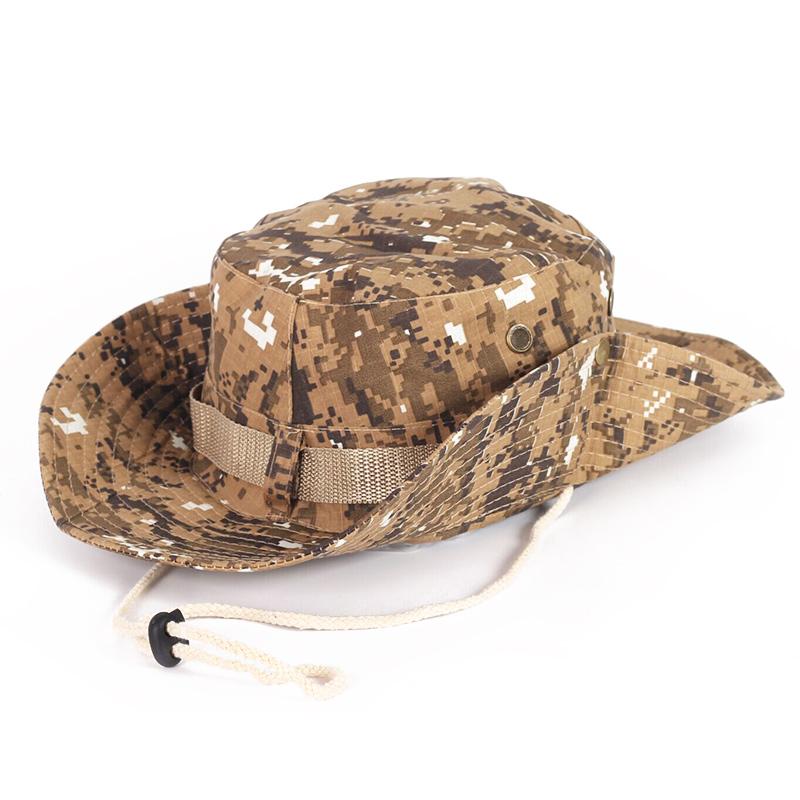 叢林迷彩帽子戶外遮陽帽奔尼帽沙灘防曬男女騎行速幹漁夫帽太陽帽