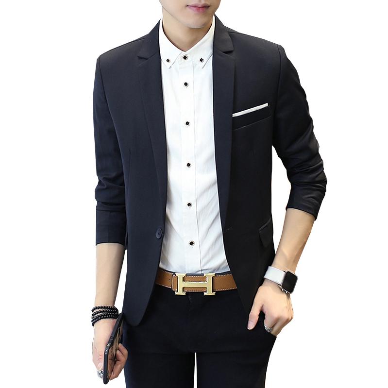 西服男修身青年韩版春季休闲小西装学生外套男商务婚礼上衣便西潮