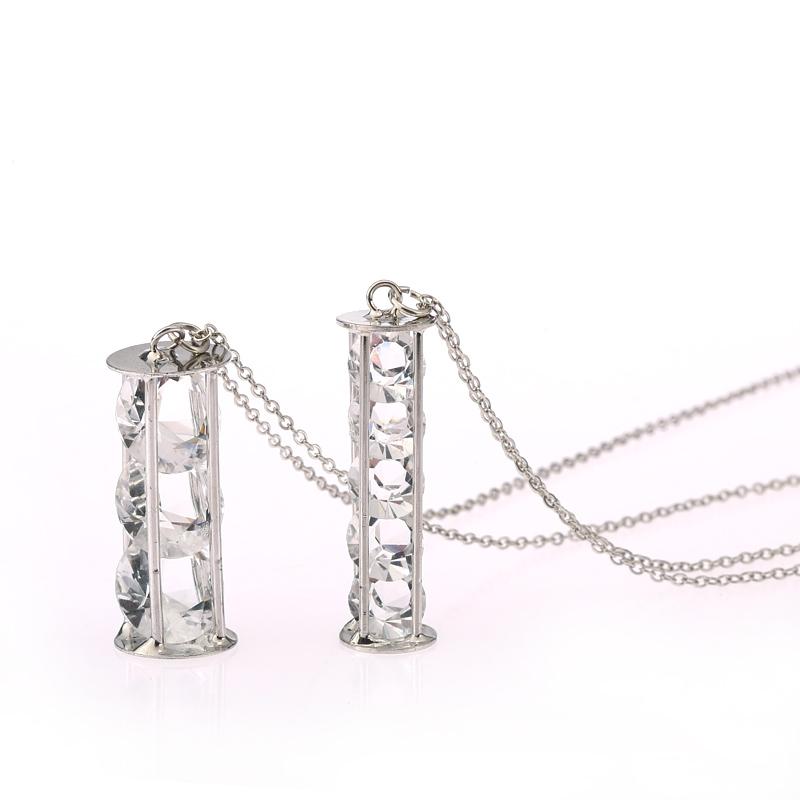 Западная ювелирные изделия оптовая цилиндрических сокровище Джокер сэндвич камень длинные ожерелья