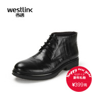 Westlink/West 2015 winter new business casual leather belt men's boots leather ankle boots