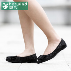 Hot air-fall 2015 ladies bow pointed light sweet shoes women shoes flat shoes 61H5747