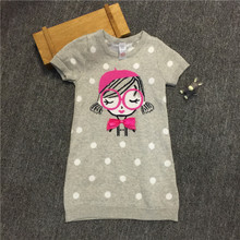 British TU the original single child or baby sweater sweater with short sleeves in Europe and the united fan girls dress coat autumn wear skirt
