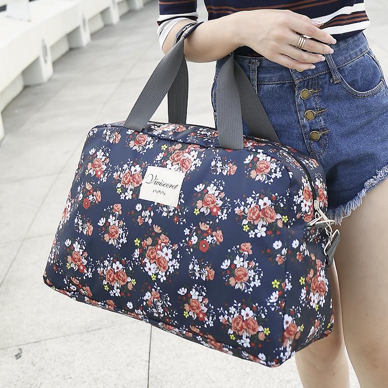 短途轻便旅行包韩版折叠行李袋手提旅行袋大容量旅游包网红健身包